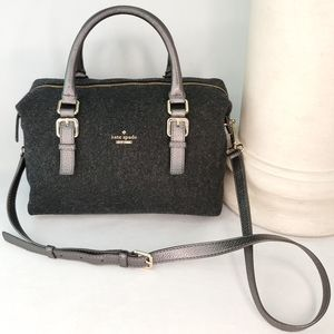 KATE SPADE Wool and Leather Convertible Satchel